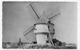 (RECTO / VERSO) BATZ SUR MER - N° 1601 - LE MOULIN A VENT - BEAU TIMBRE - FORMAT CPA VOYAGEE - Batz-sur-Mer (Bourg De B.)