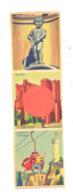 Marque-pages Publicitaire Touristique - Bruxelles - Gand/Gent - Dinant - Tourisme   (b260/4) - Marque-Pages