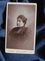 Photo CDV  Bellingard à Lyon  Portrait Femme Corpulente  CA 1895 - L467 - Photos