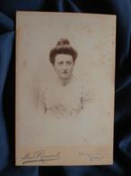 Photo Format Cabinet  Rancoule à Paris  Beau Portrait Femme élégante  Bustier En Dentelle  CA 1895 - L467 - Photos