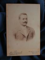 Photo Format Cabinet  Rancoule à Paris  Portrait Jeune Homme Moustachu  CA 1895 - L467 - Photos