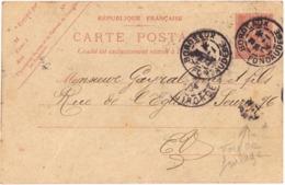 Cachet Manuel BORDEAUX FONDAUDEGE 1904  + Daguin Solo R01 [ BORDEAUX ] GIRONDE - Matasellos Manuales