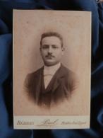 Photo Format Cabinet  Paul à Béziers  Portrait Homme élégant  Col Dur  CA 1895 - L467 - Photos