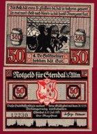 Allemagne 1 Notgeld De 50 Pfenning  Stadt Stendal (RARE SERIE COMPLETE)  Dans L 'état N °4861 - [ 3] 1918-1933 : República De Weimar