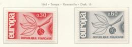 PIA  - FRANCIA  - 1965  : Europa -  (Yv 1455-56) - Europa-CEPT