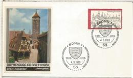 ALEMANIA FDC BONN 1969 ROTHENBURG OB DER TAUBER ARQUITECTURA - Monumentos
