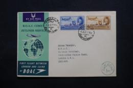 EGYPTE - Enveloppe Du Caire Pour Londres Par Vol Retour Du 1er Vol Londres / Le Caire En 1952 - L 43794 - Lettres & Documents
