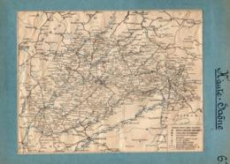 2 Cartes Télégraphique Téléphonique Des Chemins De Fer Dépt 71 Saone Et Loire 70 Haute Saô Année 1936 Collée Recto Verso - Europe