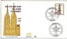 ALEMANIA FDC BONN 1980 DER KOLNER DOM CATEDRAL ARQUITECTURA - Iglesias Y Catedrales