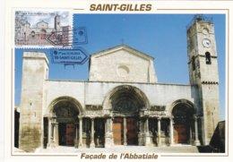 CM: St-JACQUES DE COMPOSTELLE :ABBATIALE SAINT-GILLES: 1er Jour 22.02.2013 (neuve) - Cartas Máxima