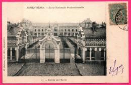 Armentières - Ecole Nationale Professionnelle - Entrée De L'Ecole - Photo Edit. M. BULTEAU - 1906 - Armentieres
