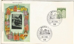 ALEMANIA  FDC BONN ARQUITECTURA BERLIN TEGEL - Monumentos