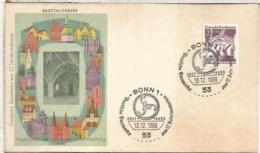 ALEMANIA FDC BONN ARQUITECTURA LOWENBERG - Monumentos