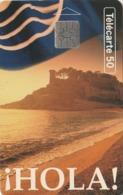 FRANCIA. Hola! Mer. HOLA, PLAYA Y CASTILLO, ESPAÑA. 50U. 0459. 04/94. (316). - Frankrijk