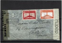 LCTN57/5 -  ARGENTINE LETTRE AVION POUR MADRID MARS 1945 CENSURE - Airmail