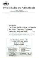 Boten+ + Fuhrleute B. D. Brief- Und Fahrpost 1692 - 1867 - Von Horst Diederichs  (DASV) PgA 191 Aus 2014 - Deutschland