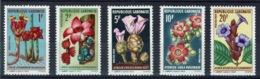 Gabon, Flowers, Blossoms, 1969, MNH VF complete Set Of 5 - Gabon