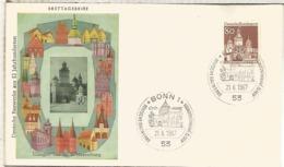 ALEMANIA FDC BONN ARQUITECTURA WEISSENBURG - Monumentos