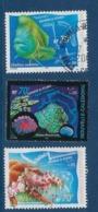 """Nle-Caledonie YT 815 à 817 """" Aquarium Nouméa """" 2000 Oblitéré - Neukaledonien"""