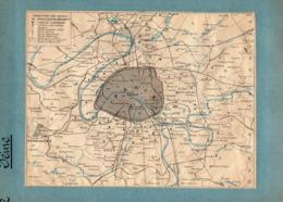 2 Cartes Télégraphique Téléphonique Des Chemins De Fer Dépt 74 Haute-Savoie 75 PARIS Année 1936 Collée Recto Verso - Europe