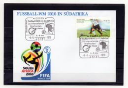 BRD, 2010, Brief Mit Michel 2788 Und Sonderstempel, Fußball-WM/Südafrika - Brieven En Documenten