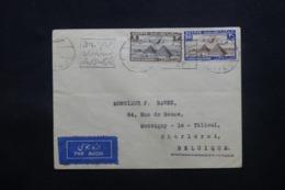 EGYPTE - Enveloppe Du Caire Pour La Belgique Par Avion, Affranchissement Plaisant - L 43805 - Lettres & Documents