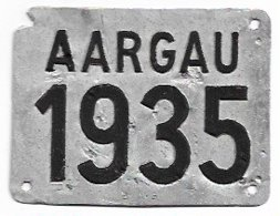 Velonummer Aargau AG 35 - Number Plates