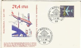 ALEMANIA FDC BONN 1965 TRANSPORTE AVION PLANE JET - Busses