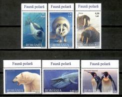 Romania 2007 Rumania / Polar Fauna Birds Mammals Whales Bear MNH Aves Mamiferos / Cu13923  5-23 - Sellos