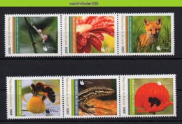 Nff113 FAUNA SLAK VOS BIJEN REPTIEL BLOEMEN FLOWERS POPPY FOX SNAIL BEES INSECT REPTILE LIZARD? BURUNDI 2012 PF/MNH - Briefmarken