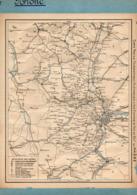 2 Cartes Télégraphique Téléphonique Des Chemins De Fer Dépt 69 Rhône 66 Pyrénées-Orientales Année1936 Collée Recto Verso - Europe