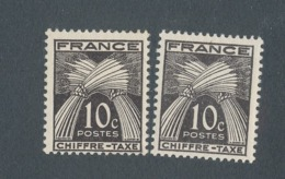 FRANCE - TAXE N°YT 67X2 NEUFS** SANS CHARNIERE - COTE YT : 0€40 - 1943/46 - Taxes
