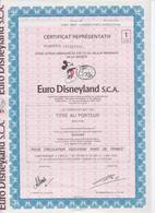 Euro Disneyland S.C.A.  Eurodisney,aandeel Zonder Coupons - Tourisme