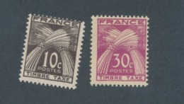 FRANCE - TAXE N°YT 67/68 NEUFS** SANS CHARNIERE - COTE YT : 0€40 - 1943/46 - Taxes