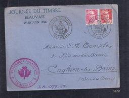 Enveloppe Locale Journee Du Timbre 1946 Beauvais Gandon - France