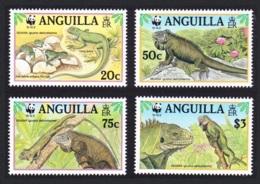 Anguilla WWF West Indian Iguana 4v MNH SG#1004-1007 MI#988-991 SC#968 A-d CV£9.25 - Anguilla (1968-...)