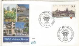 ALEMANIA FDC BONN 1989 2000 JAHRE BONN ARQUITECTURA - Monumentos