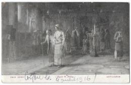GREECE GRECE, PAIN BENIT Ceremony, THEODORE RALLI Painting, 1910s Vintage Postcard - Religius Customs - Aspiotis - Greece