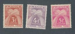 FRANCE - TAXE N°YT 83/85 NEUFS** SANS CHARNIERE - COTE YT : 0€90 - 1946/55 - Taxes