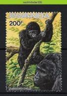 Nff120 'WWF' FAUNA MENSAAP APEN ZOOGDIEREN GORILLA PRIMATE MONKEYS MAMMALS APES AFFEN SINGES RWANDA 1985 PF/MNH - Gorilla's