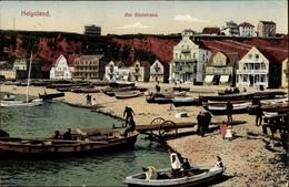 Cp Helgoland In Schleswig Holstein, Partie Am Südstrand, Boote Am Ufer - Germania