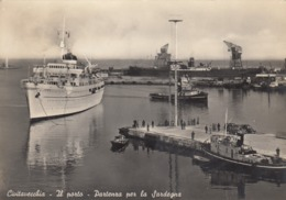 CIVITAVECCHIA  /  IL Porto - Partenza Per La Sardegna _ Viaggiata - Civitavecchia
