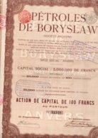 PETROLES DE BORYSLAW ANVERS ANTWERPEN - Erdöl