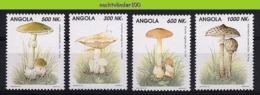 Nff122 FLORA PADDESTOELEN PADDENSTOELEN MUSHROOMS PILZE CHAMPIGNONS SETAS FUNGHI ANGOLA 1993 PF/MNH - Pilze
