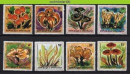 Nff123 FLORA PADDESTOELEN PADDENSTOELEN MUSHROOMS PILZE CHAMPIGNONS SETAS FUNGHI RWANDA 1980 PF/MNH # - Mushrooms