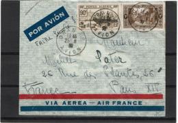 LCTN57/5 -  ALGERIE LETTRE AVION POUR PARIS - Algeria (1924-1962)