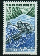 1969 Championnats Du Monde Canoë Kayak Bourg Saint Maurice Sport     N°  196     MNH Neuf Sans Charnières - Andorre Français