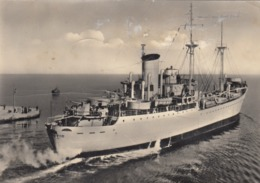 NAVE VESUVIO CON CANNONE POPPIERO  _ Viaggiata 1952 - Guerra