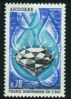 1969 Charte Européenne De L'eau     N°  197    MNH Neuf Sans Charnières  Voir Explications - Andorre Français