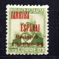Sello Nº 17 Sin La Tilde De La ñ Badajoz - Emissions Républicaines